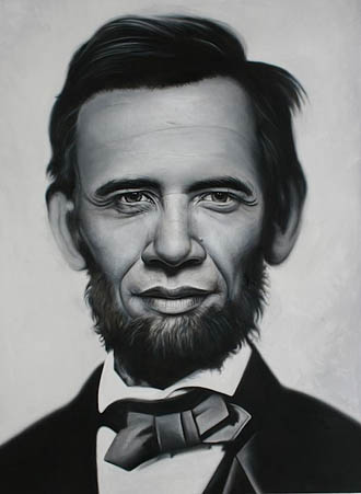 Obama and Lincoln morphed
